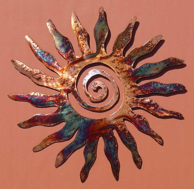 gallery for metal sun art